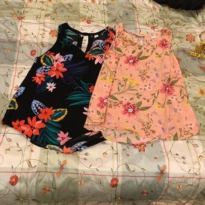 Old navy tank blouse lot of 2 (large)